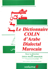 Dictionnaire COLIN d'Arabe Dialectal Marocain